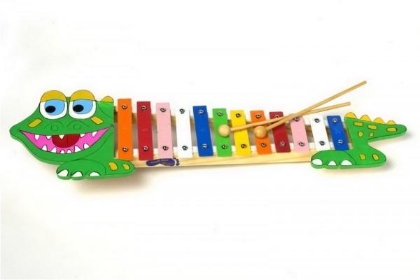 Klangspielzeug, Xylophon Krokodil