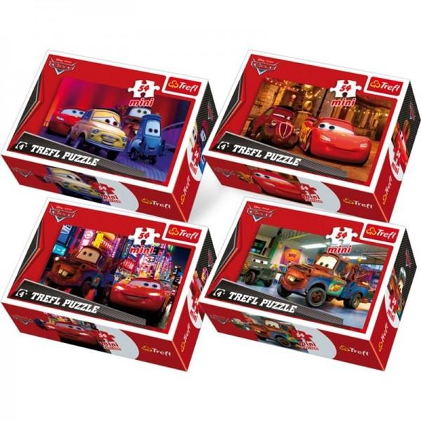 Puzzle 54pc, Mini-Puzzle Cars, Lot 4pcs