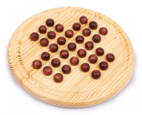 Solitär Brettspiel aus Holz mit Kugeln