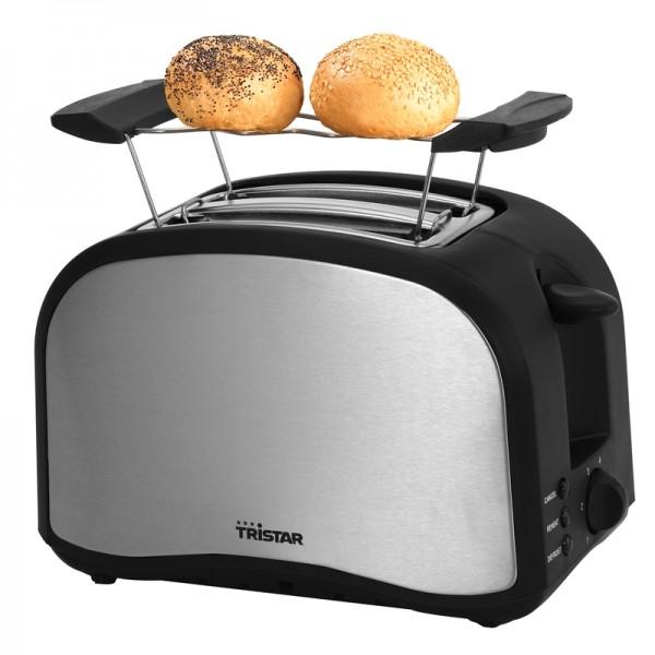 Toaster Edelstah mit Brötchenaufsatz