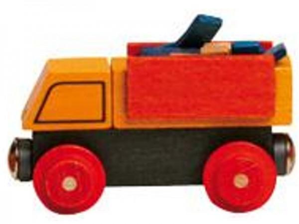 Holzeisenbahn PLAYGO - Lastwagen beladen