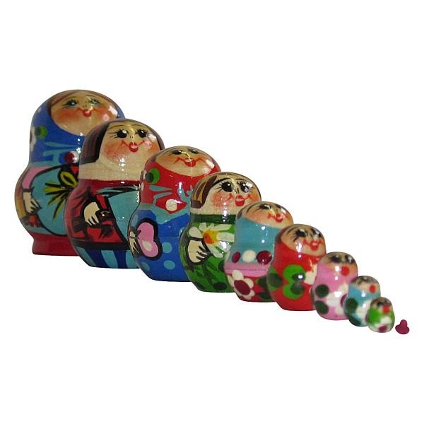 Matrjoschka Puppen 10x, 5cm (Matroschka)