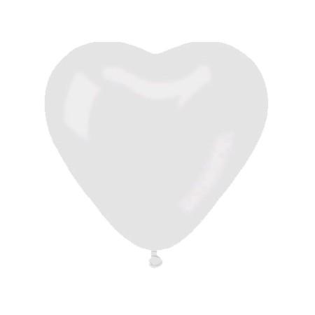 Ballon de baudruche cœur blanc,40cm,20pc