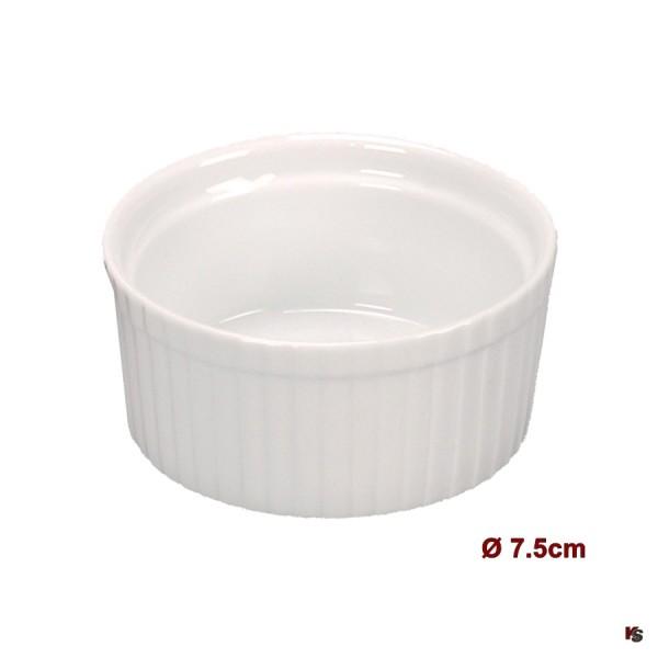 Ramequin, kleine Porzellan Form, 7.5cm