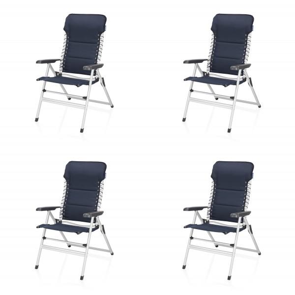 Ensemble chaises de jardin pliable, 4 pc