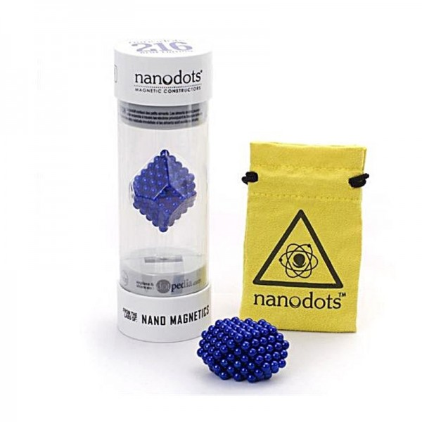 Nano dots bleu, 216 boules magnétiques