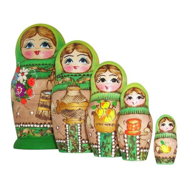 Matrjoschka Puppen 5tlg 15cm, Matroschka