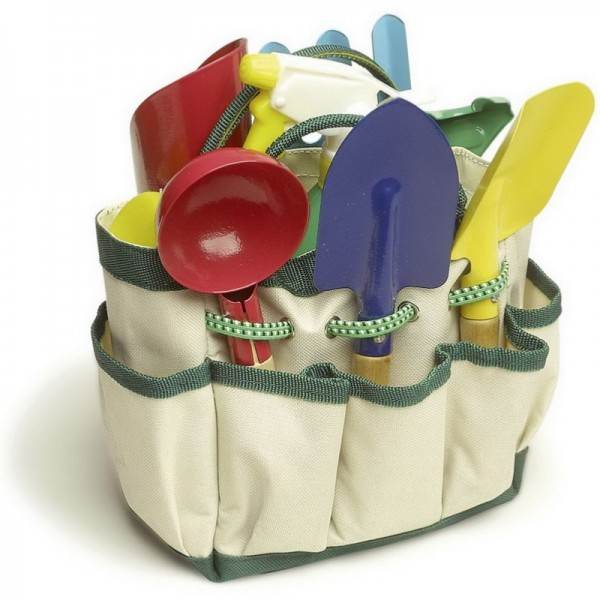 Kinder Gartengeräte Set mit Tasche