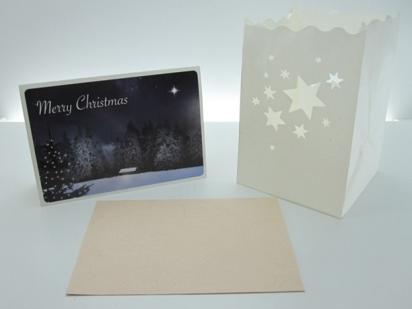 Grusskarte, Dekolicht Merry Christmas
