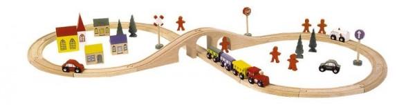 chemin de fer en bois Le8, Lot 46pc