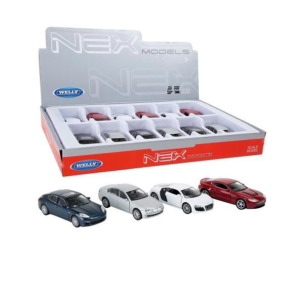 Display mit 12Stk. Spielzeug Sportwagen