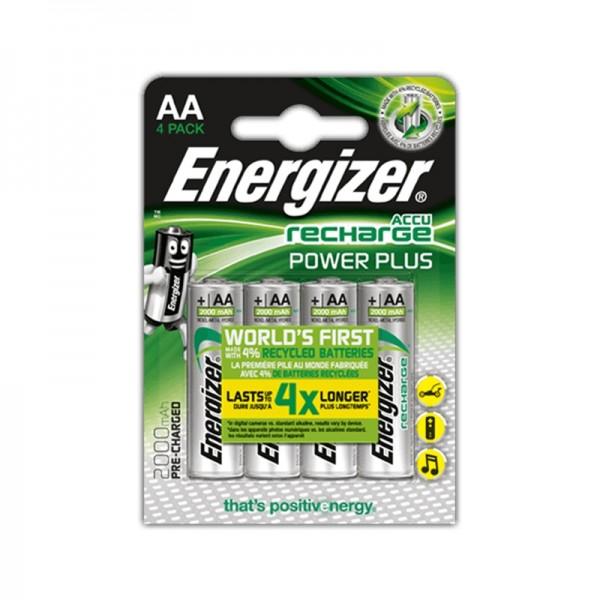 Energizer Akku Batterie AA, 2000, 4Stk.