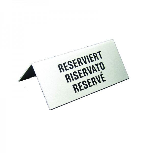 Chevalet de table, Reserviert, Réservé