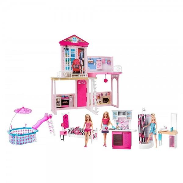 Barbie Spiel Haus mit Zubehör (Pool etc)