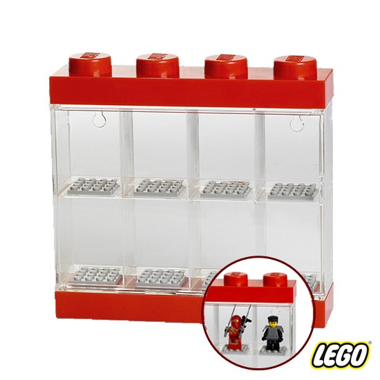 Lego Minifigure Display Case 4 Knob, Red