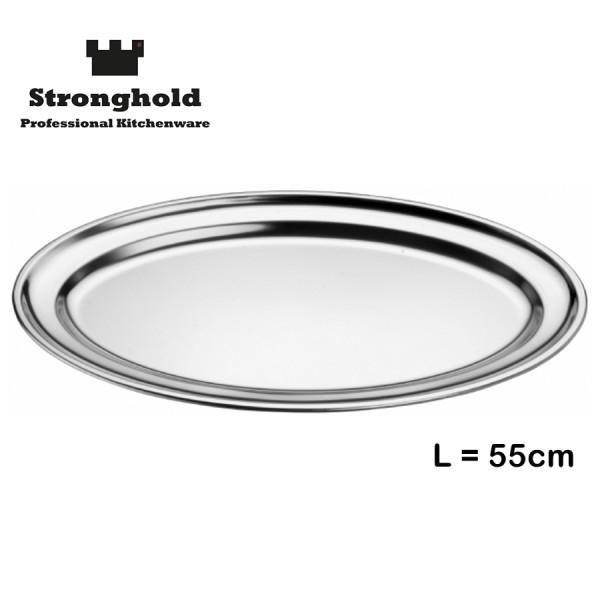 Edelstahl Tablett 55cm, von Stronghold