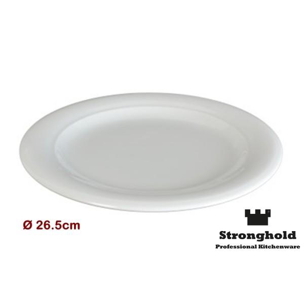 Runde Gastro- Teller 26.5cm, Porzellan