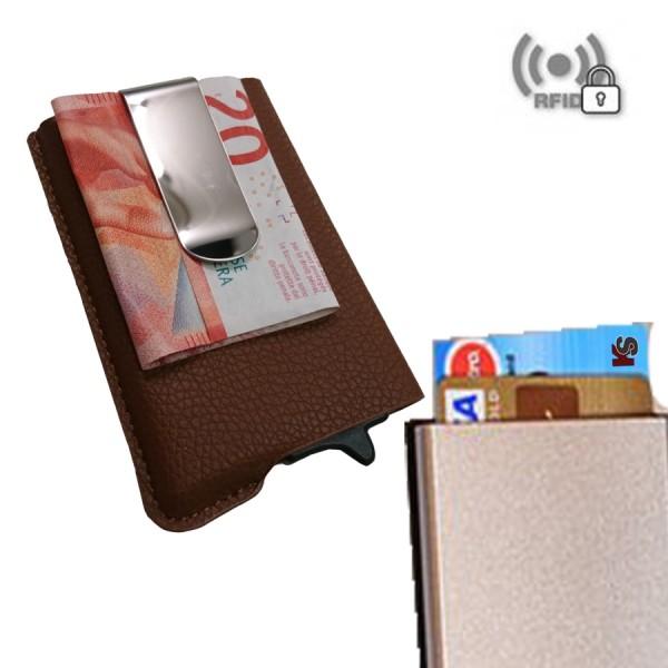 Card Guard RFID Save mini Wallet Braun