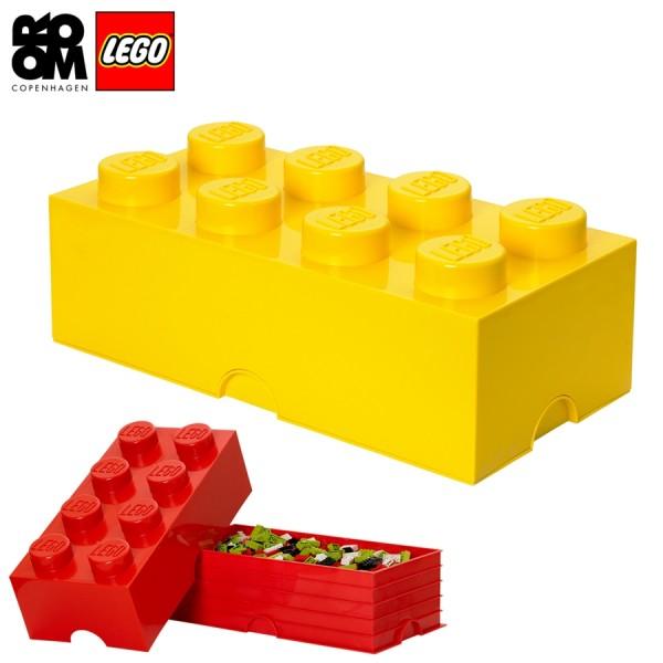 XXL Lego Aufbewahrungsbox 8 Noppen, Gelb