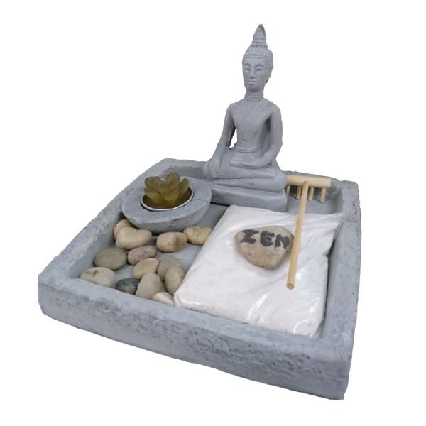Miniatur ZEN Garten Buddha, 17-teilig