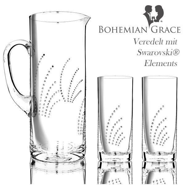 Karaffe mit 2 Gläser, Bohemian Grace FLP