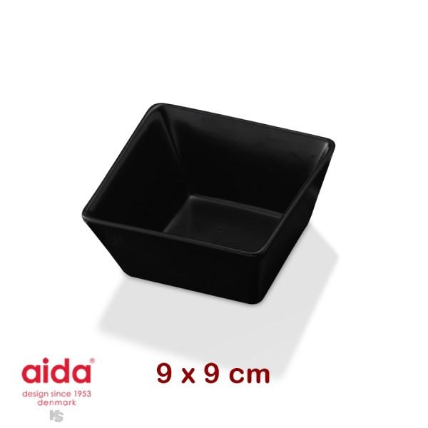 aida QSB plat creux noir carré 9 cm