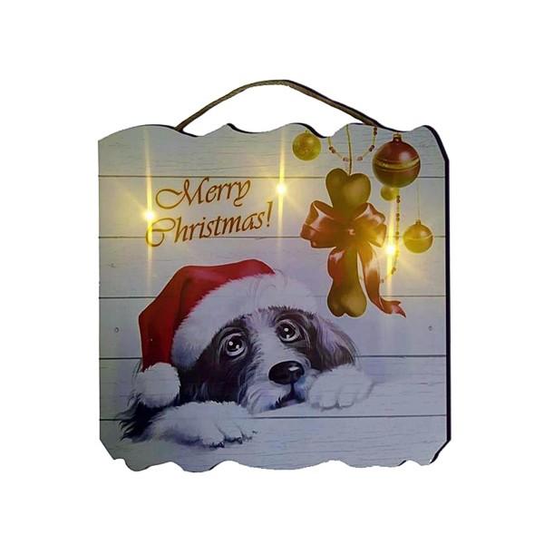 LED Bild 40 x 40 cm - XMAS Hund