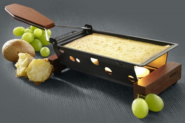 Raclette mit Teelichtern, Mahagoni,Boska