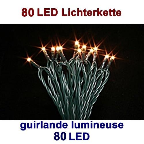 Leuchtkette Outdoor, 80 LED, Timer, etc