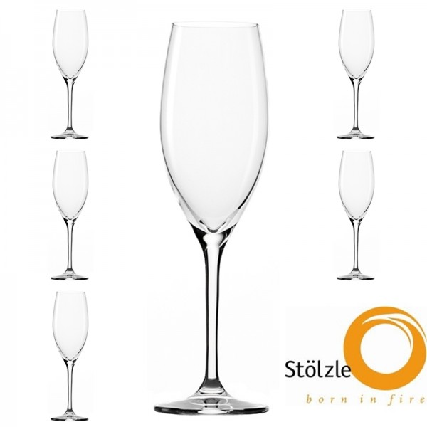 Glas, CLL, 6x Champagnerkelch Glas, 240