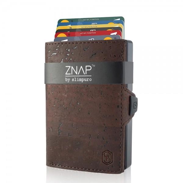 ZNAP 12 - mini Wallet Korkleder Braun