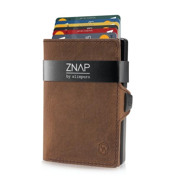 ZNAP 8 - slim Wallet Leder Vintage Braun
