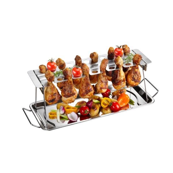 Support pour cuisses de poulet barbecue