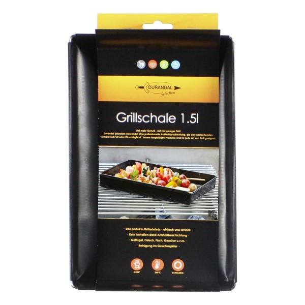 Grillschale schwarz 1.5 Liter Durandal