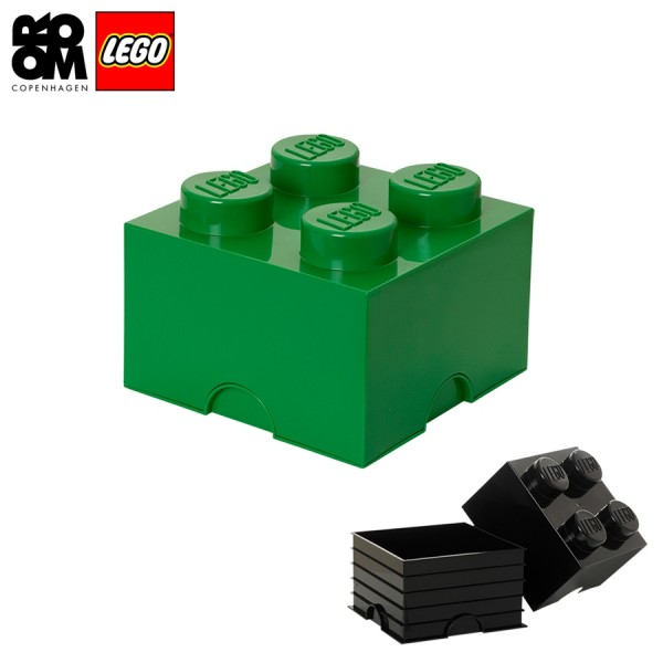XXL Lego Aufbewahrungsbox 4 Noppen, Grün