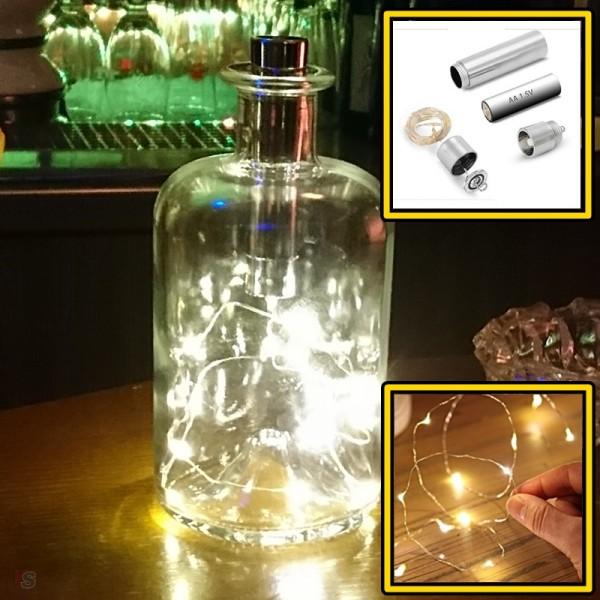 Guirlande lumineuse 10 LED et Bouchon