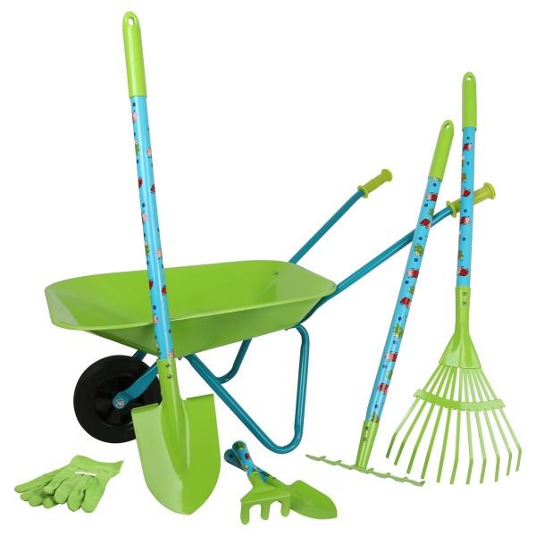 Grand kit de jardin avec brouette