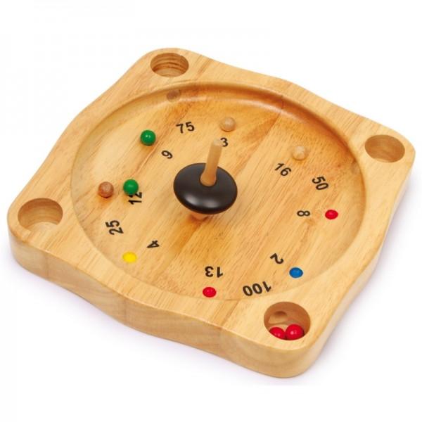 Tiroler Bauern Roulette Spiel aus Holz
