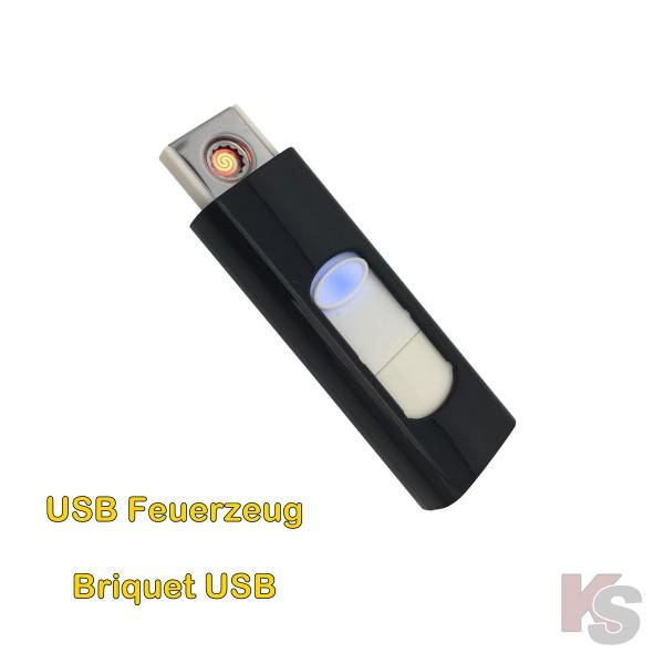 Briquet USB avec spirale rougeoyer