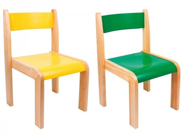 Stuhl, Kinderstuhl Set grün & gelb