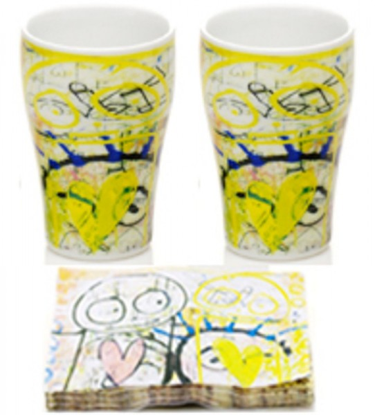 PAVA real love is art-yellow 2Stk. Mug