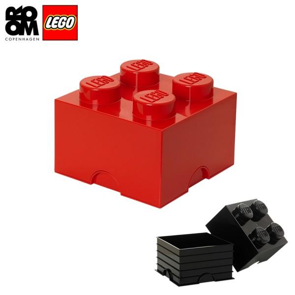 XXL Lego Aufbewahrungsbox 4 Noppen, Rot