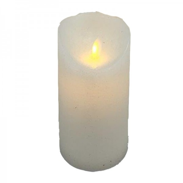 LED Kerze mit beweglicher Flamme, 9x23cm