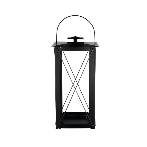 Laterne M, 19x40.5cm, slim Design Black