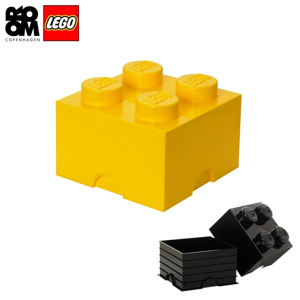 XXL Lego Aufbewahrungsbox 4 Noppen, Gelb