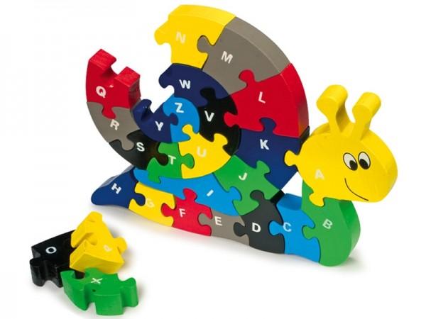 Puzzle Buchstaben - Schnecke