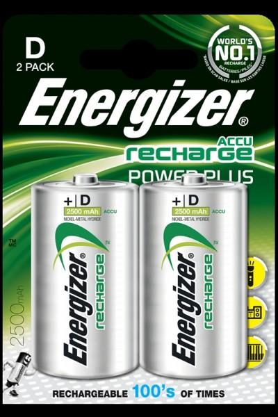 Energizer wiederaufladbare Batterien, Akku Typ D 2Stk.