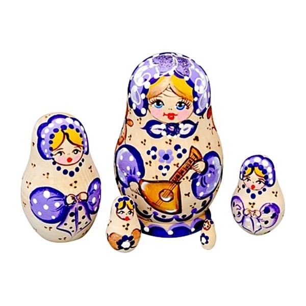 Matrjoschka Puppe 5tlg, 10cm Matroschka