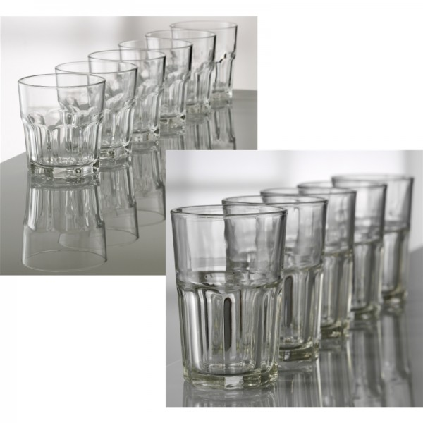 Glas ATELIER 12Stk Gläser 6x28cl+6x36cl