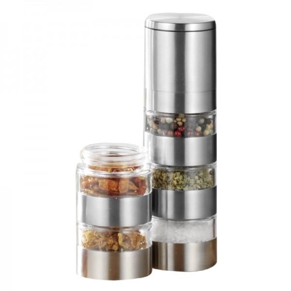 Moulin à poivre (sel,épice) SPICY argent